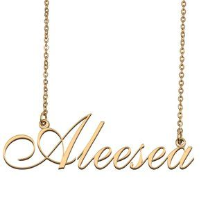 Custom Personalized Aleesea Name Necklace